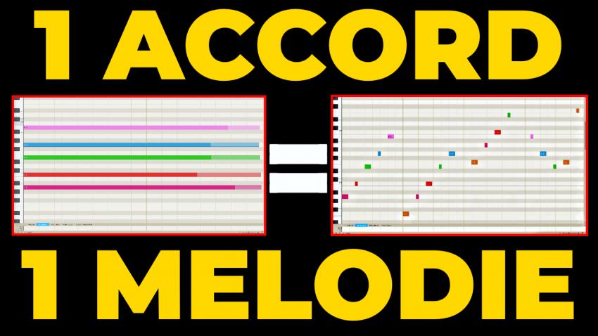 créer une mélodie sur un seul accord