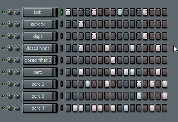 fl studio pattern